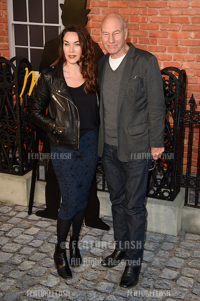 """Sir Patrick Stewart & wife Sunny Ozell at the UK premiere of """"Mr Holmes"""" at the Odeon Kensington, London<br /> June 10, 2015  London, UK<br /> Picture: Steve Vas / Featureflash"""