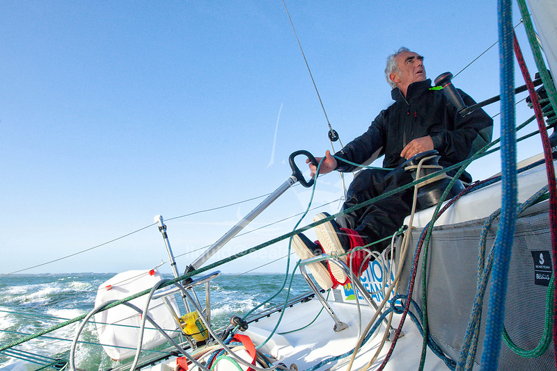 """Training Session with Loïck Peyron onboard a Figaro Beneteau 3.<br />Tour worldist sailing and finalist of the America's Cup, Loïck Peyron is undoubtedly the most emblematic skipper of the """"French school"""" of racing, but his outstanding track record is not sufficient to define it outstanding browser. Gifted with an amazing sixth sense sailor, Loïck Peyron is also a communicator and technician extraordinary whose influence on the evolution of modern mono and multihulls is crucial for several decades. <br />The Figaro BENETEAU 3 is the first production foiling one-design monohull ever to be designed. A distillation of technology and innovation, it results from a collaboration between group BENETEAU's best experts and the Van Peteghem Lauriot-Prévost (VPLP) office, the architects of the two last boats to win the Vendée Globe.<br />The prototype has been tested and the production of the boat has been launched. It will enter the ISO/World Sailing design category A."""
