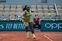 6th June 2021; Roland Garros, Paris France; French Open tennis championships day 8;  Serena Williams (USA )