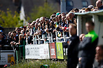 The crowd watch the early exchanges. Vanarama National League North, Promotion Final, North Ferriby United v FC Fylde, 14th May 2016.