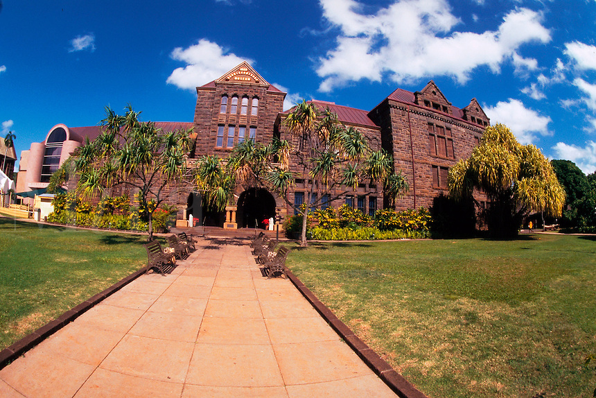 Exterior of the Bishop Museum. Honolulu, Hawaii.