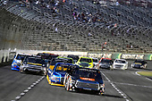 NASCAR Camping World Truck Series<br /> winstaronlinegaming.com 400<br /> Texas Motor Speedway, Ft. Worth, TX USA<br /> Friday 9 June 2017<br /> Christopher Bell, JBL Toyota Tundra and Chase Briscoe, Cooper Standard Ford F150<br /> World Copyright: Nigel Kinrade<br /> LAT Images<br /> ref: Digital Image 17TEX2nk03820
