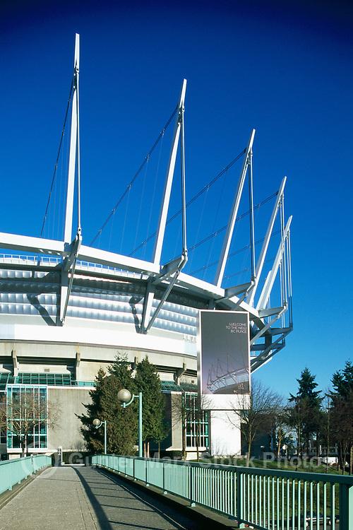 new B.C. Place - Stadium, Downtown Vancouver, British Columbia, Canada.Jan 2012