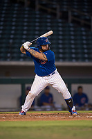AZL Cubs 1 catcher Alexander Guerra (6) at bat during an Arizona League game against the AZL Cubs 1 at Sloan Park on June 28, 2018 in Mesa, Arizona. The AZL Athletics defeated the AZL Cubs 1 5-4. (Zachary Lucy/Four Seam Images)
