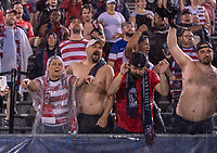 EAST HARTFORD, CT - JULY 1: Fans cheer during a game between Mexico and USWNT at Rentschler Field on July 1, 2021 in East Hartford, Connecticut.