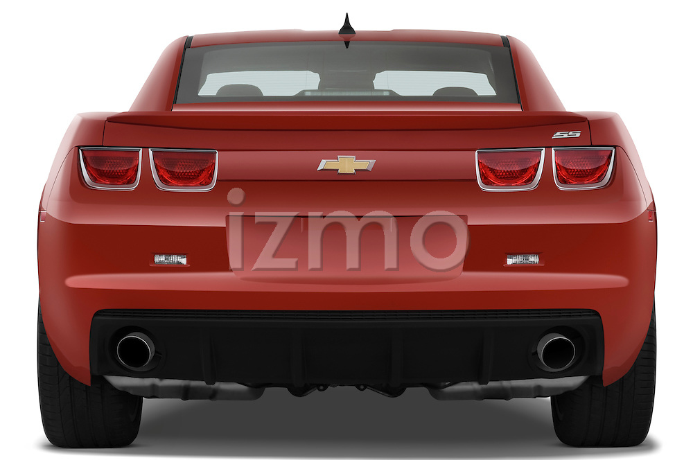 Straight rear view of a 2010 Chevrolet Camaro SS