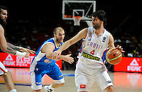 SERBIA - GREECE BASKETBALL WORLD CUP SPAIN MADRID<br /> sunday September 07. 2014. Milos Teodosic