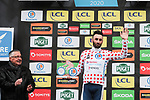 Jonathan Hivert (FRA) Total Direct Energie retains the Polka Dot Jersey on the podium at the end of Stage 3 of the 78th edition of Paris-Nice 2020, running 212.5km from Chalette-sur-Loing to La Chatre, France. 10th March 2020.<br /> Picture: ASO/Fabien Boukla   Cyclefile<br /> All photos usage must carry mandatory copyright credit (© Cyclefile   ASO/Fabien Boukla)