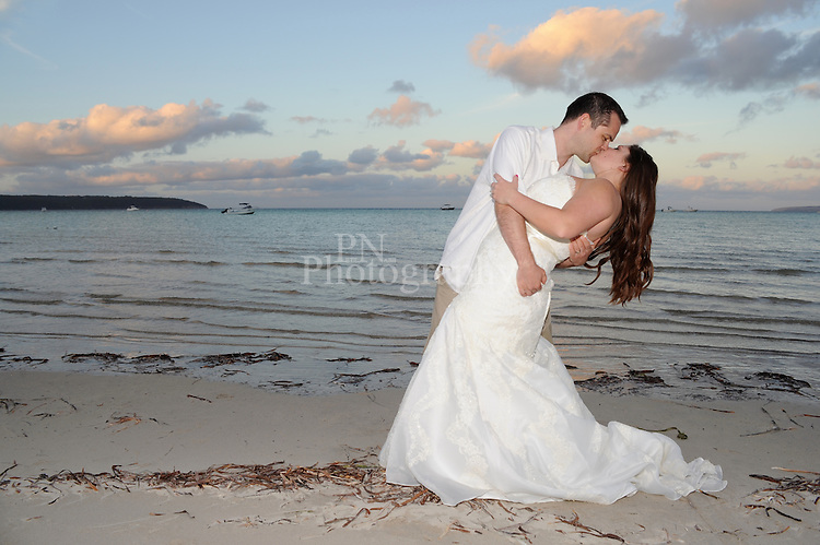 Day 18 weekend wedding shot on Island beach Kangaroo Island late afternoon as the sun was about to set