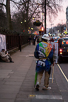London, 11/03/2015. Today, to mark the forth Anniversary of the Fukushima 'Triple disaster' (erthquake, tsunami and nuclear disaster), JAN UK (Japanese Against Nuclear), supported by the CND (Campaign for Nuclear Disarmament) and other organizations, held a vigil outside the Japanese Embassy in central London.<br /> <br /> For more information please click here: http://www.januk.org/ & http://bit.ly/1wYwaQh