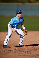 Kurtis Byrne (16) of Christian Brothers College High School in Chesterfield, Missouri during the Baseball Factory All-America Pre-Season Tournament, powered by Under Armour, on January 13, 2018 at Sloan Park Complex in Mesa, Arizona.  (Mike Janes/Four Seam Images)