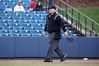 GREENSBORO, NC - FEBRUARY 25: Home plate umpire Brett Dickerson during a game between Fairfield and UNC Greensboro at UNCG Baseball Stadium on February 25, 2020 in Greensboro, North Carolina.