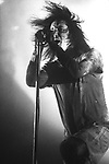 Various Live photographs of the rock band, Nine Inch Nails.