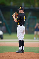 Blake Pivaroff (4) during the WWBA World Championship at the Roger Dean Complex on October 12, 2019 in Jupiter, Florida.  Blake Pivaroff attends Laguna Beach High School in Laguna Beach, CA and is committed to Arizona State.  (Mike Janes/Four Seam Images)