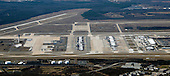 View of Washington Dulles International Airport from a commercial airliner on Sunday, February 28, 2016.  <br /> Credit: Ron Sachs / CNP