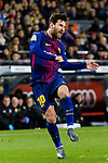 Lionel Messi of FC Barcelona in action during the Copa Del Rey 2017-18 match between FC Barcelona and Valencia CF at Camp Nou Stadium on 01 February 2018 in Barcelona, Spain. Photo by Vicens Gimenez / Power Sport Images