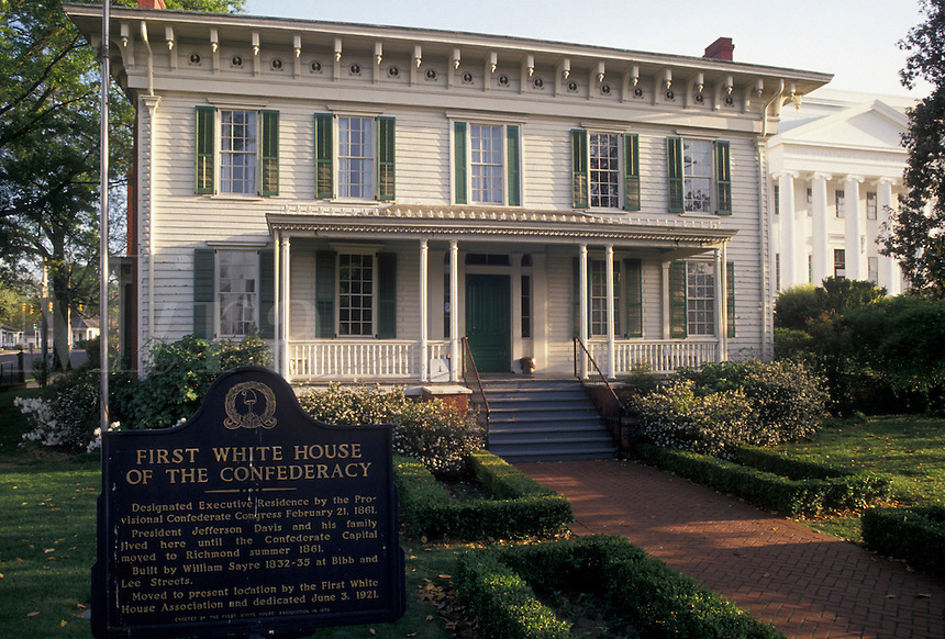 AJ4003, Montgomery, Confederate Capital, White House, Alabama, First White House of the Confederacy in Montgomery in the state of Alabama.