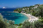 Greece, Thessaly, Northern Sporades, Island Skiathos, Troullos: Troullos beach | Griechenland, Thessalien, Noerdliche Sporaden, Insel Skiathos, Troullos: Troullos beach
