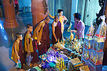 Minks At Market In Shwedagon Pagoda