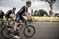 Nils Eekhoff (NED/DSM) & Tiesj Benoot (BEL/DSM) post-race<br /> <br /> Stage 10 from Albertville to Valence (191km)<br /> 108th Tour de France 2021 (2.UWT)<br /> <br /> ©kramon