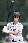 #23 Abe Nozomi of Japan in action during the BFA Women's Baseball Asian Cup match between Japan and Hong Kong at Sai Tso Wan Recreation Ground on September 5, 2017 in Hong Kong. Photo by Marcio Rodrigo Machado / Power Sport Images