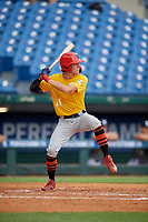 Drake Varnado (11) of IMG Academy in Port Neches, TX during the Perfect Game National Showcase at Hoover Metropolitan Stadium on June 17, 2020 in Hoover, Alabama. (Mike Janes/Four Seam Images)