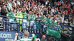 Celtic captain Scott Brown lifts the Scottish Cup
