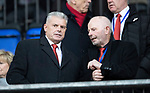 St Johnstone v Aberdeen…..24.11.19   McDiarmid Park   SPFL<br />New dons chairman Dave Cormack pictured with outgoing chairman Stewart Milne<br />Picture by Graeme Hart.<br />Copyright Perthshire Picture Agency<br />Tel: 01738 623350  Mobile: 07990 594431