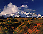 Wilson Peak with autumn Aspen trees, Telluride, Colorado, USA.