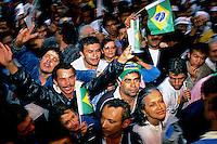 Manifestação pró impeachment de Collor na Praça da Sé. São Paulo. 1992. Foto de Juca Martins.