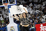 Real Madrid's cheerleaders during Euroleague match.March 27,2015. (ALTERPHOTOS/Acero)
