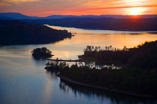 Sunset over Chickamauga Lake