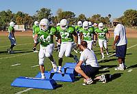 Sept. 16, 2009; Casa Grande, AZ, USA; California Redwoods linebacker (44) Nick Hannah runs drills during training camp at the Casa Grande Training Facility & Performance Institute. Mandatory Credit: Mark J. Rebilas-