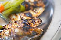 Grilled sardines. Lisbon, Portugal