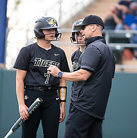 Kent Early head softball coach for Bentonville talking to Trista Peterson (7) at Rogers High School, Rogers, Arkansas, on Tuesday, April 6, 2021 / Special to NWA Democrat Gazette