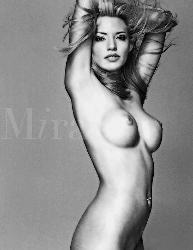 Nude woman posing.
