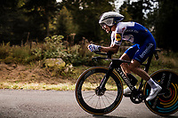 Julian Alaphilippe (FRA/Deceuninck-QuickStep) on the steep parts of the individual time trial up the infamous Planche des Belles Filles<br /> <br /> Stage 20 (ITT) from Lure to La Planche des Belles Filles (36.2km)<br /> <br /> 107th Tour de France 2020 (2.UWT)<br /> (the 'postponed edition' held in september)<br /> <br /> ©kramon