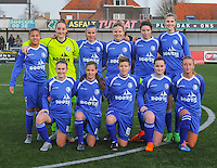 20160116 - ZULTE , BELGIUM :  team of AA Gent B  pictured during a soccer match between the women teams of ZULTE-WAREGEM and AA GENT B  , during the fifteenth matchday in the First League - Eerste Nationale season, Saturday 16 January 2016 . PHOTO DIRK VUYLSTEKE