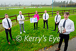 Members of the Tralee Rugby Club launching the Kerry Hospice Foundations Movember fundraiser on Sunday. Front right: Sean Dowling. Back l to r: Gavin Peevers, Jamie Byrne, Maura O'Sullivan (Kerry Hospice), Rob Durran and Christopher Lowe.