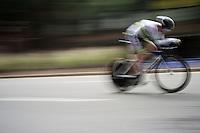 Michael Storer (AUS) in a fast blur<br /> <br /> Junior Men TT<br /> UCI Road World Championships / Richmond 2015