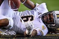 January 01, 2014:<br /> <br /> UCF Knights wide receiver Randell Hall #6 lands in the end zone for a touchdown during Tostitos Fiesta Bowl at University of Phoenix Stadium in Scottsdale, AZ. UCF defeat Baylor 52-42 to claim it's first ever BCS Bowl trophy.