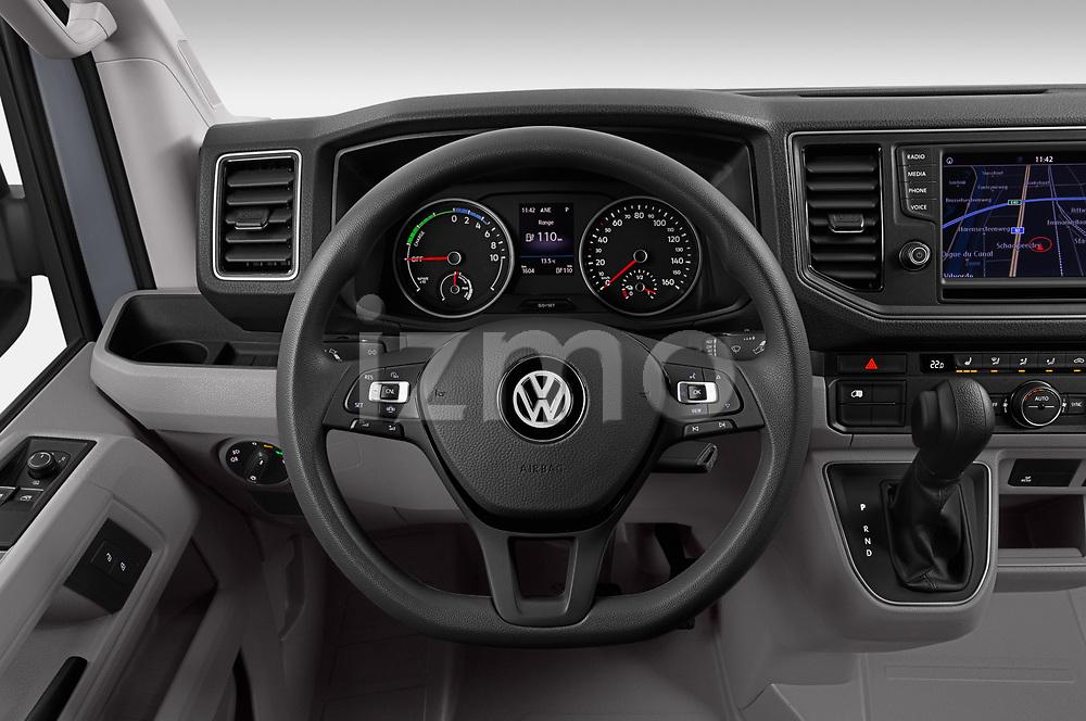 Car pictures of steering wheel view of a 2020 Volkswagen Crafter e-Crafter 4 Door Cargo Van Steering Wheel