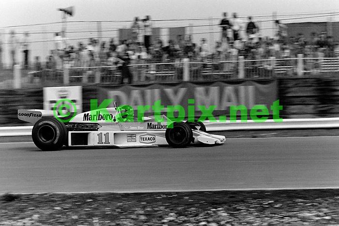 James Hunt John Player British Grand Prix 1976 at Brands Hatch.