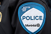 Photo d'archive de la police au Quebec<br /> badge du SPVM<br /> <br /> <br /> PHOTO :  AGENCE QUEBEC PRESSE