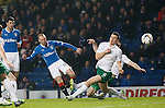 Kenny Miller tests the keeper with a rasping shot