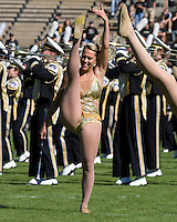 October 03, 2008: The Purdue Golden Girl performs before the game. The Penn State Nittany Lions defeated the Purdue Boilermakers 20-06 on October 03, 2008 at Ross-Ade Stadium, West Lafayette, Indiana.