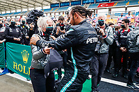 HAMILTON Lewis (gbr), Mercedes AMG F1 GP W11 Hybrid EQ Power+, portrait celebrating his 7th world champion title with Angela Cullen during the Formula 1 DHL Turkish Grand Prix 2020, from November 13 to 15, 2020 on the  Intercity Istanbul Park, in Tuzla, near Istanbul, Turkey  <br /> Formula 1 GP Turchia 15/11/2020<br /> Foto DPPI/Panoramic/Insidefoto <br /> ITALY ONLY