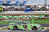 #18: Kyle Busch, Joe Gibbs Racing, Toyota Camry Interstate Batteries, Celebrates after winning in Texas.