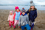 The Rooney family, Harry, Amelie, Freya and Indie Rooney enjoying Banna Beach on Friday.