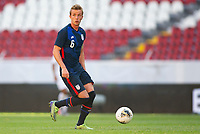 GUADALAJARA, MEXICO - MARCH 28: Jackson Yueill #6 of the United States dribbles with the ball during a game between Honduras and USMNT U-23 at Estadio Jalisco on March 28, 2021 in Guadalajara, Mexico.